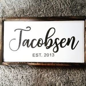 Personalized name/ year sign